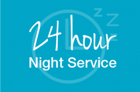 Now meeting your needs 24 hours a day with Night Network Services!